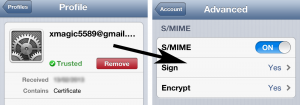 Setting up SMIME on iOS