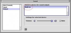 选择 Built-in 作为音频设备