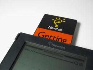 Insert Getting Started card into Original MessagePad