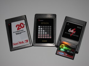 PCMCIA flash cards and adapter