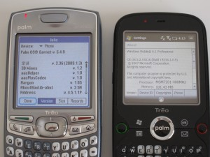 Palm OS and Windows Mobile