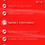 PSP Phat: Battery information setting