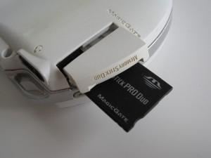 PSP Phat's Memory Stick slot
