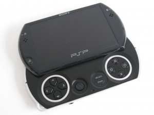 PSP Go with lid open
