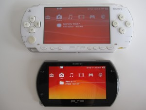 Both in highest brightness. PSP Go has color space set to wide