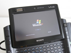 Vaio UX booting up with Windows XP