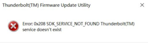 0X208 SDK_SERVICE_NOT_FOUND
